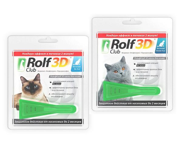 Рольф клуб 3д капли для кошек инструкция