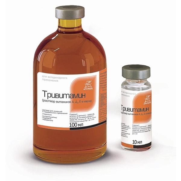 Тривитамин п инструкция по применению для животных
